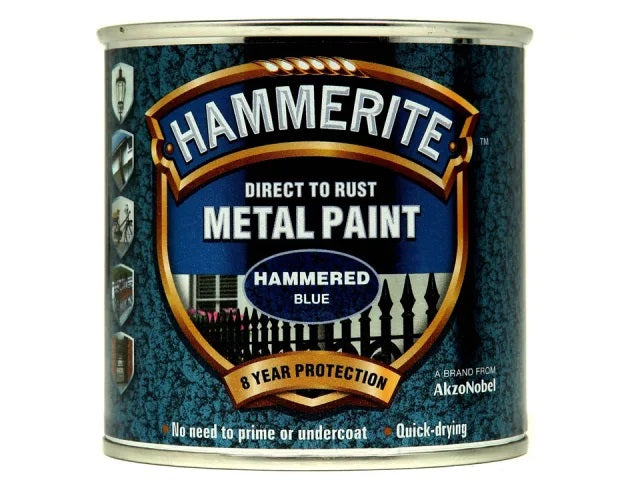 Hammerite Metal Hammered Blue 750ml 5092938