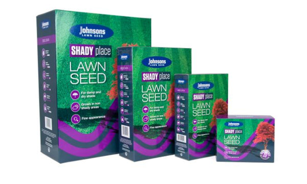 Johnsons Shady Lawn 250GM Grass Seed with seed booster
