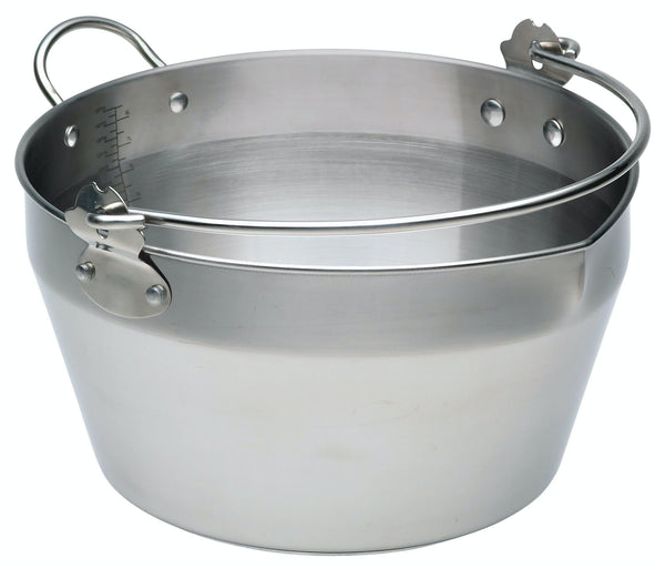 Home Made Stainless Steel 9 Litre Maslin Pan with Handle KCMASLINSS