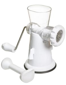 KitchenCraft White Plastic Mincer With Suction Clamp
