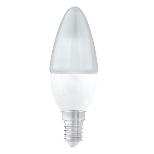 Status LED 5.5W=40W Candle Small Screw Cap Warm White Pearl Light Bulb SES-E14 - Pack of 3