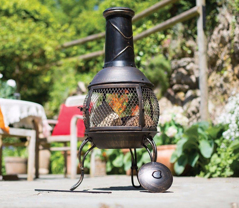 La Hacienda Leon Mesh Steel Chimenea - Medium