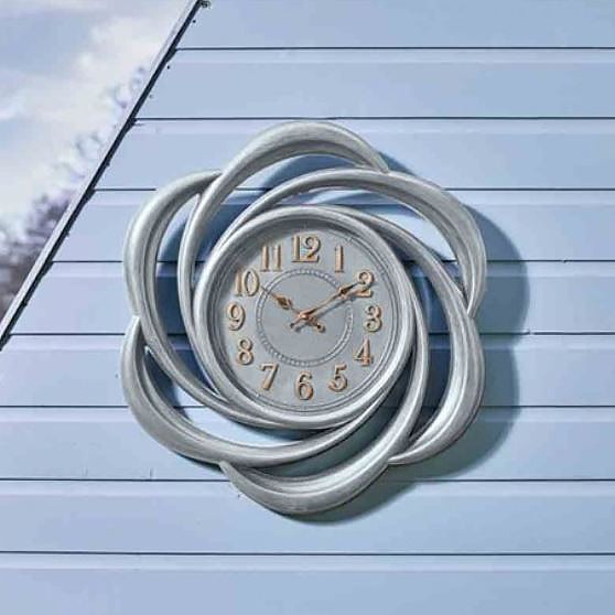 Outside In Designs Outdoor Lattice Wall Clock 24 inches