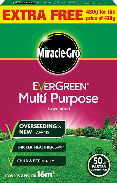 Miracle-Gro® Multi-Purpose Grass Seed 420g +15% Free OUT OF STOCK