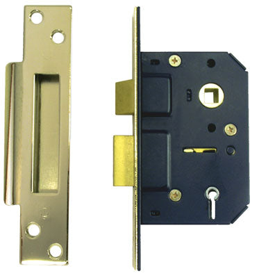 "Sterling MLS525 2.5"" 5 Lever Mortice Sashlock - Brass"
