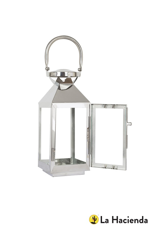 La Hacienda Palma Stainless Steel Lantern Small 40cm