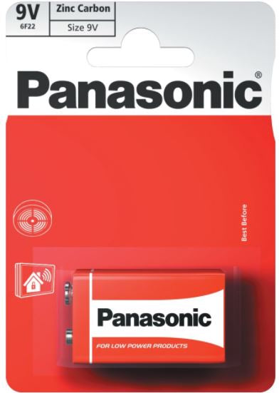 Panasonic 9V Zinc Carbon Battery - Pack of 1