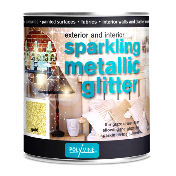 Polyvine Interior and Exterior Sparkling Glitter Glaze Gold 500ml