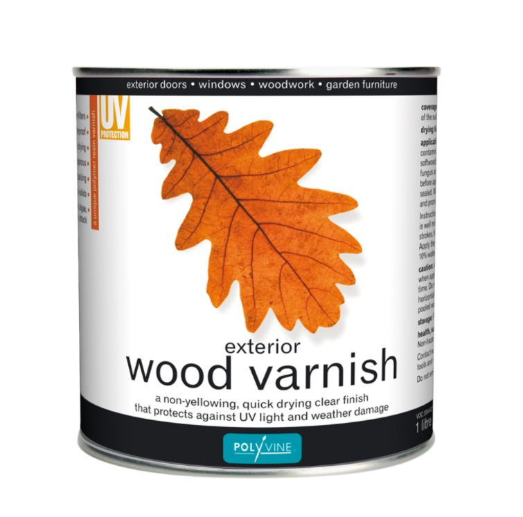 Polyvine Exterior Wood Varnish 1 Litre Dead Flat Finish