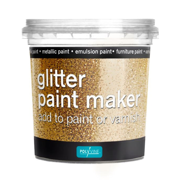 Polyvine Glitter Paint Maker Gold Glitter 75ml