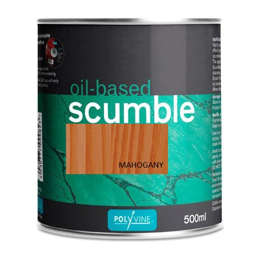 Polyvine Oil-based Scumble Mahogany Glaze 500ml