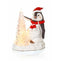 Premier LB176638 19x17cm Christmas Penguin LED Tree Scene