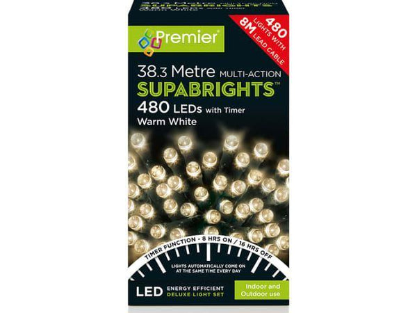 Premier LV162172WW 480 Multi-Action Supabrights LED Warm White With Timer