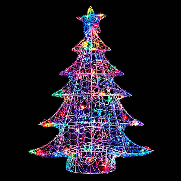 Premier LV191185M 1 Metre Acrylic Christmas Tree with 120 LED Multi Coloured Lights