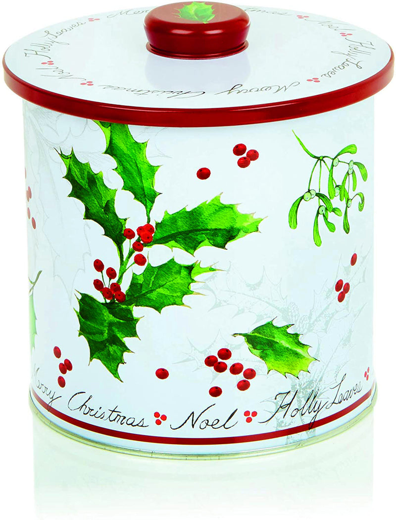 Premier Holly & Mistletoe Biscuit Barrel