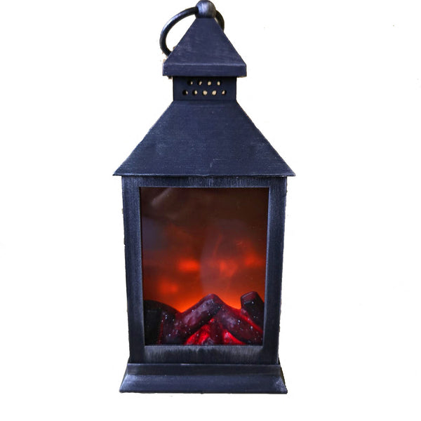 Premier Decorations Battery Operated Flame Effect Fireplace Lantern