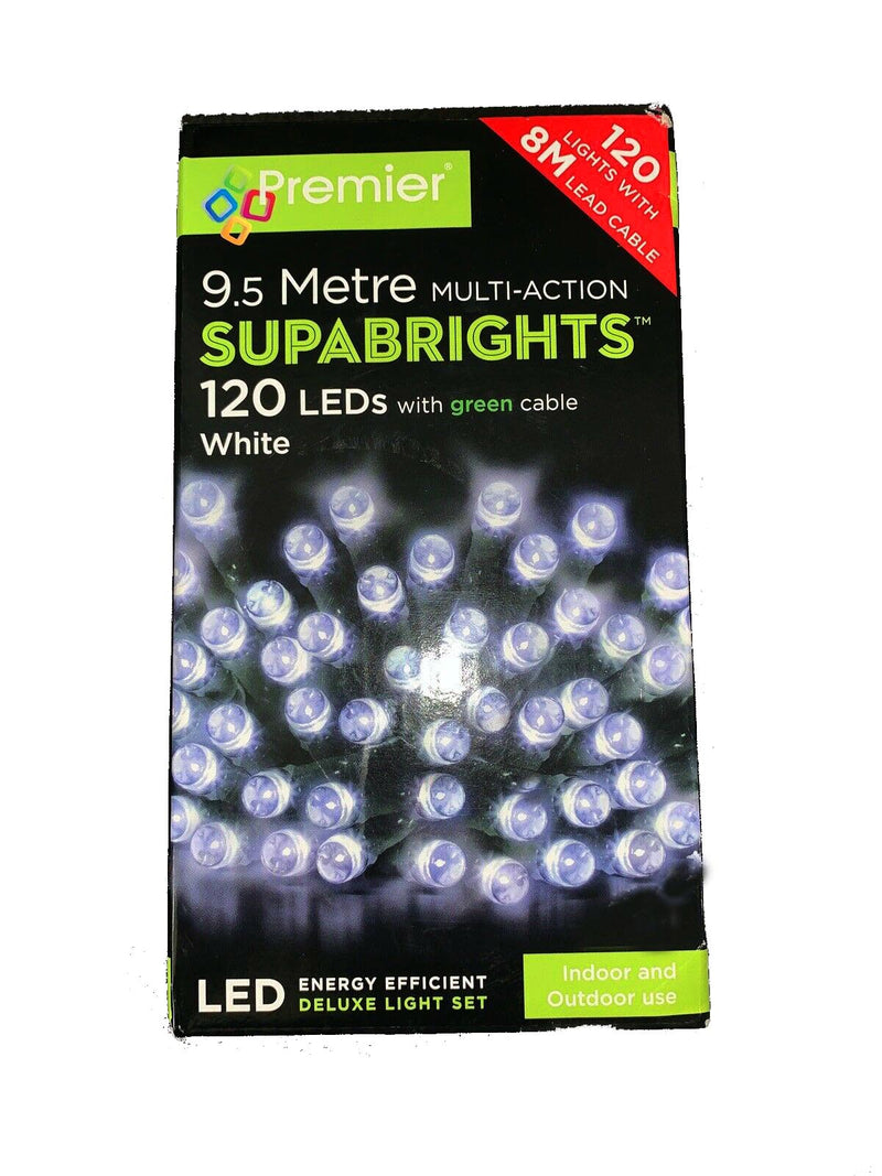 Premier LV053328W 120 Multi-Action Supabrights LED White With Timer