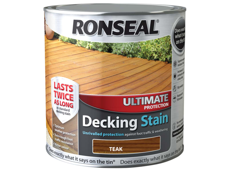 Ronseal Ultimate Decking Stain Teak 2.5 Litres 36907