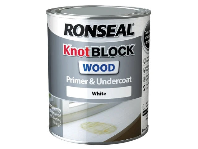 Ronseal Knot Block Primer & Undercoat White 750ml 36481