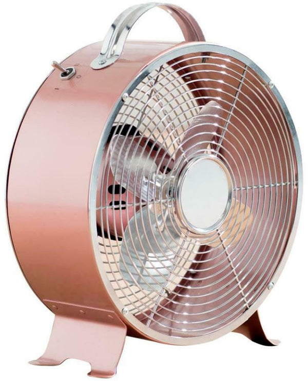 Status Portable Rose Gold 8-Inch Clock Fan