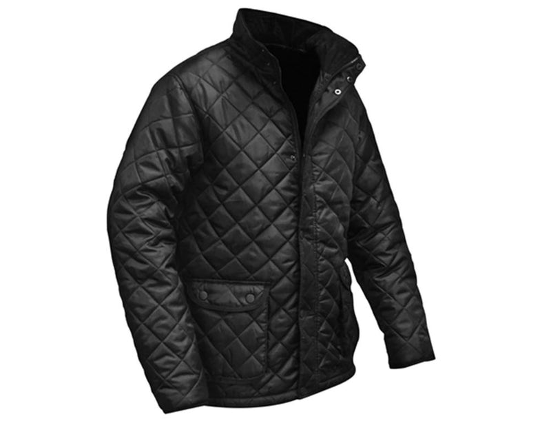 Roughneck 95-253 Black Quilted Jacket Size Large