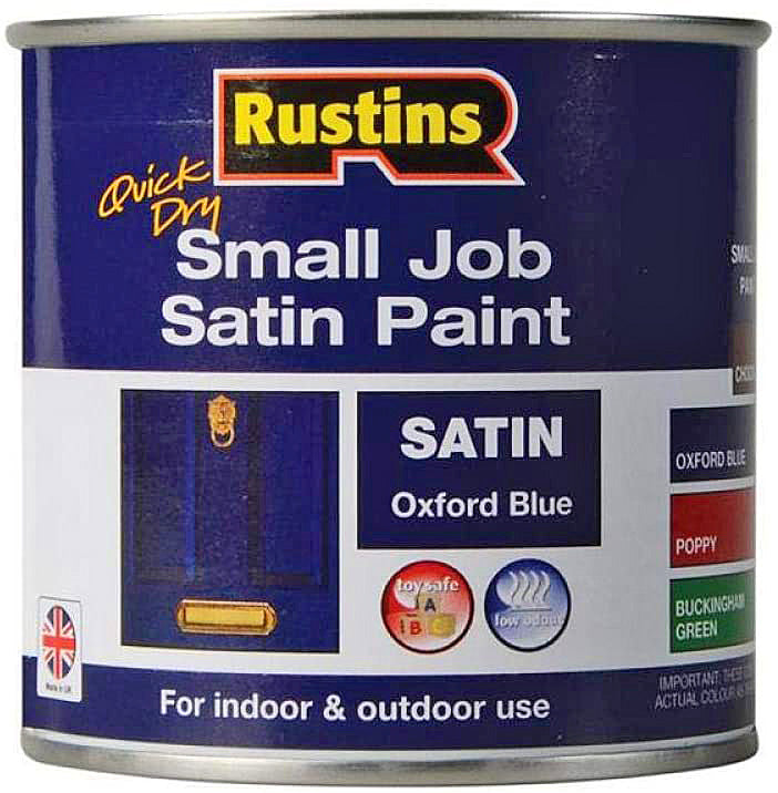 Rustins Quick Dry Small Job Satin Oxford Blue 250ml