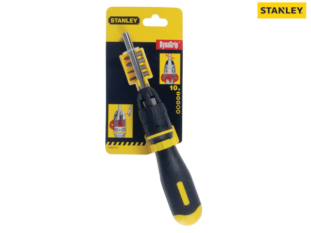 Stanley 0-68-010 Multibit Ratchet Screwdriver & 10 Bits