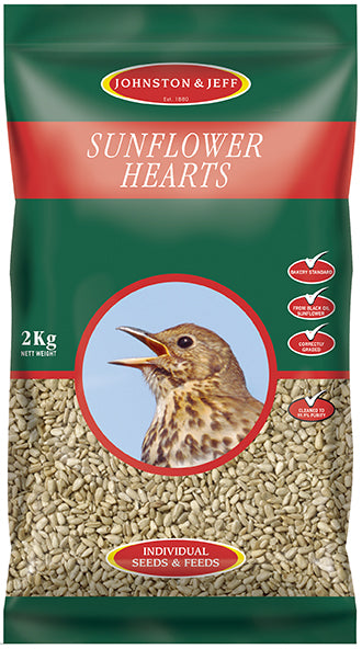 Johnsons and Jeff SH12 Sunflower Hearts 12.75 KG - NORFOLK DELIVERY ONLY