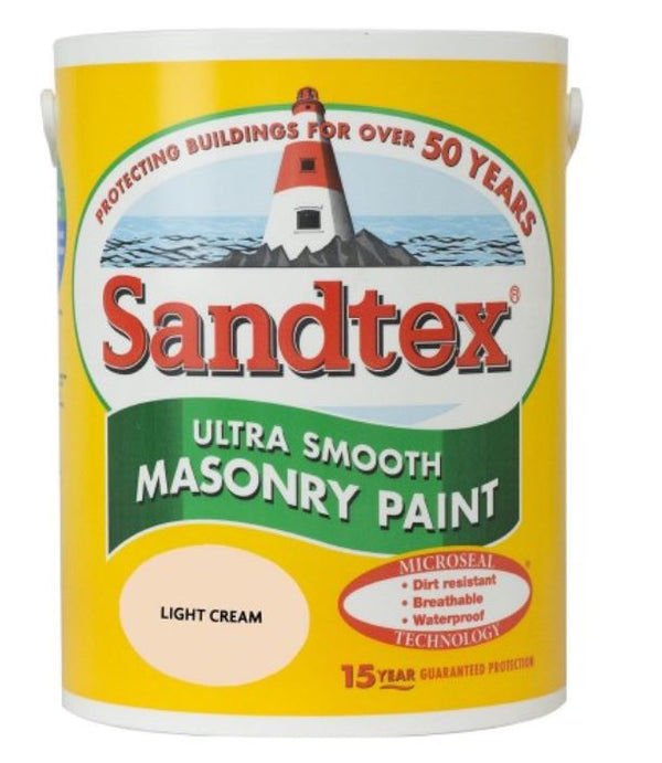 Sandtex Ultra Smooth Masonry Light Cream 5LB