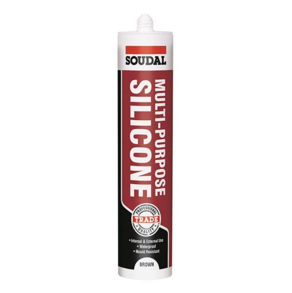 Soudal Multi-Purpose Silicone 300ml Brown