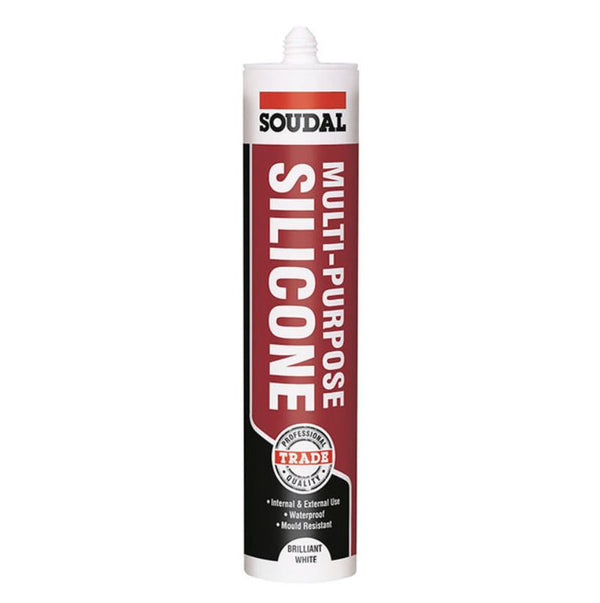 Soudal Multi-Purpose Silicone 270ml Brilliant White