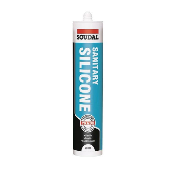 Soudal Sanitary Silicone White 290ml Cartridge