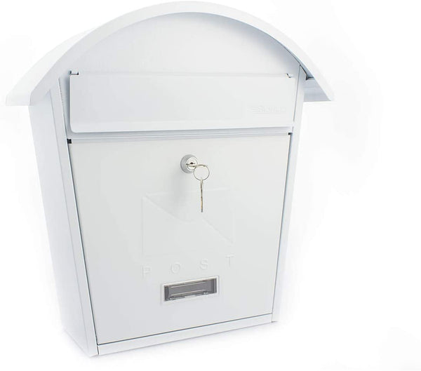 Sterling Classic 2 Wall Mounted Post Box - White MB06