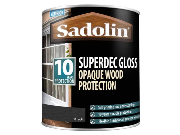 Sadolin Superdec Black Gloss 1 Litre
