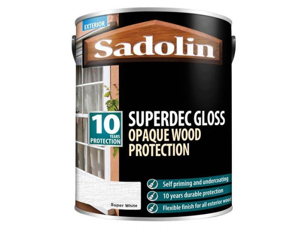 Sadolin Superdec Super White Gloss 1 Litre
