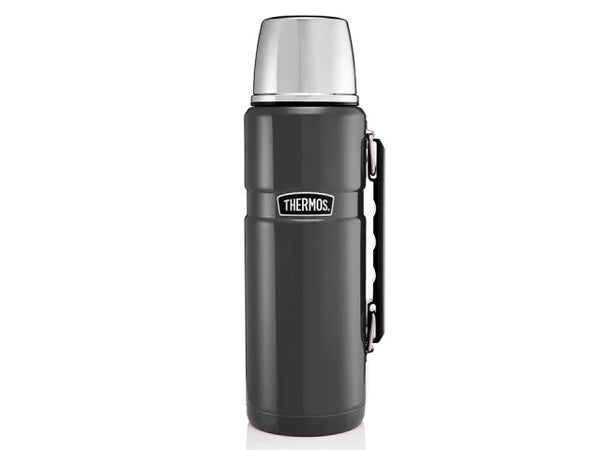 Thermos King Flask Stainless Steel Gunmetal 1.2L 105027