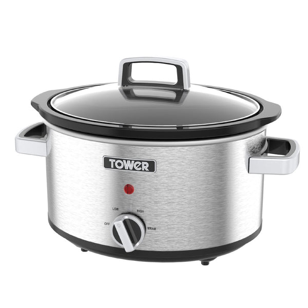 Tower T16019 Stainless Steel 6.5 Litre Slow Cooker