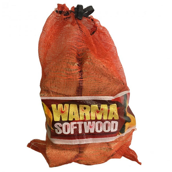 Warma Softwood Logs Net Bag 101601 NORFOLK DELIVERY ONLY