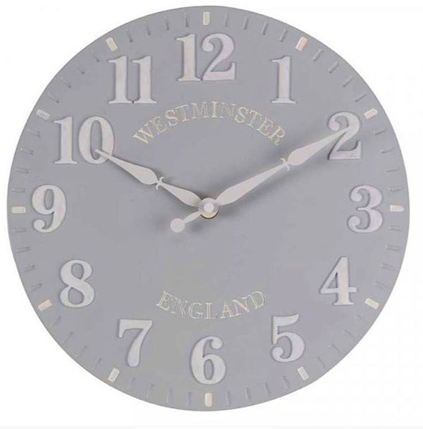 Outside In Designs Westminster Duck Egg Wall Clock 5160012