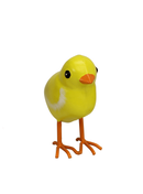 Small Yellow Metal Chick Garden Ornament