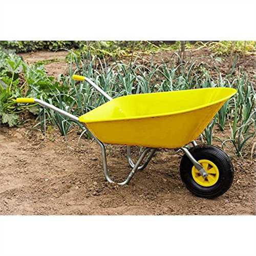 Ambassador 85 Litre Yellow Wheelbarrow