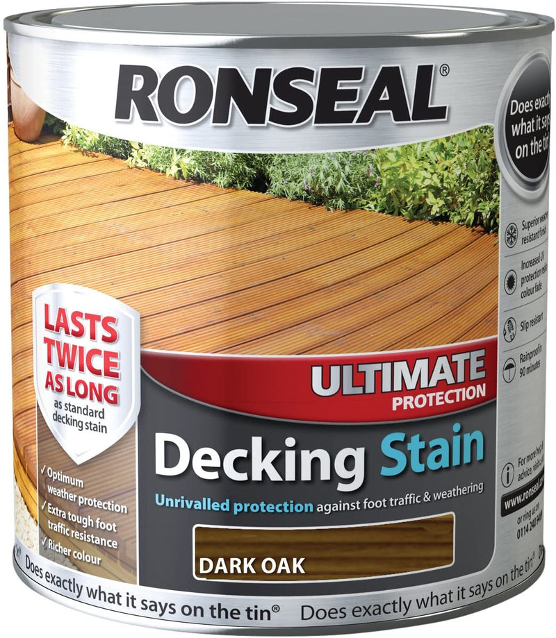 Ronseal Ultimate Decking Stain Dark Oak 2.5 Litres