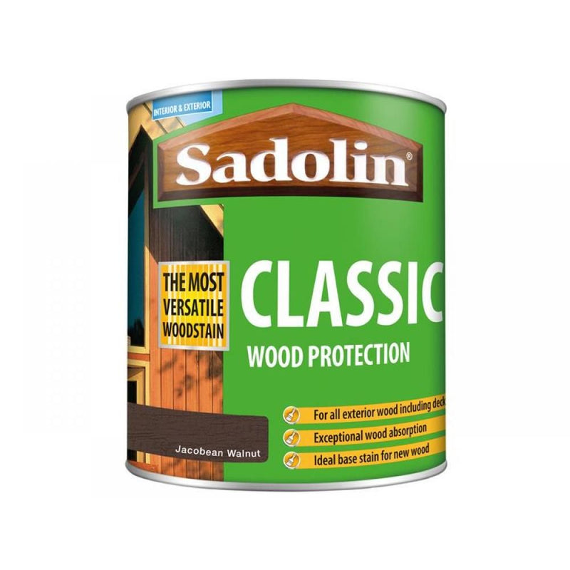 Sadolin Classic Wood Protection Jacobean Walnut 1 Litre