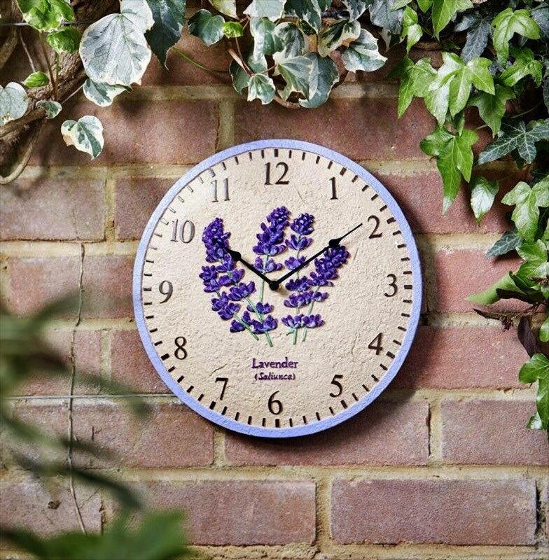 Outside In Designs Lavender Wall Clock 12""
