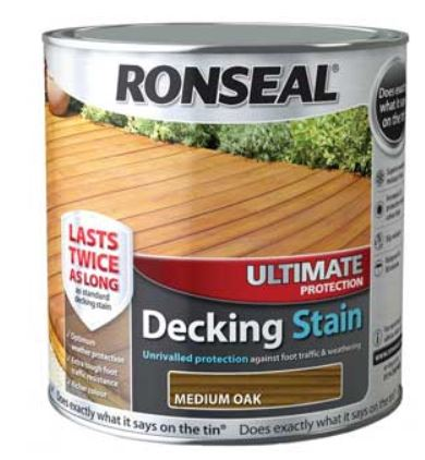 Ronseal Ultimate Decking Stain Medium Oak 2.5 Litres