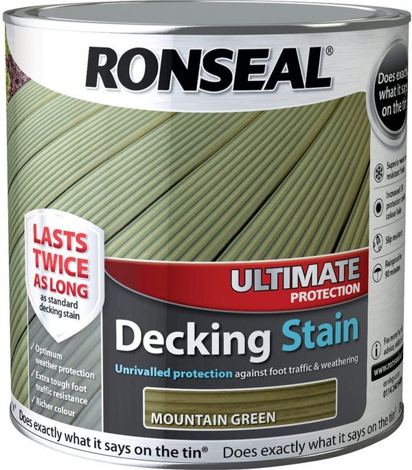 Ronseal Ultimate Decking Stain Mountain Green 2.5 Litres