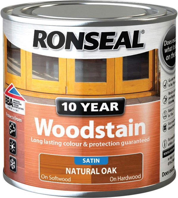 Ronseal 10 Year Woodstain Natural Oak 250ml