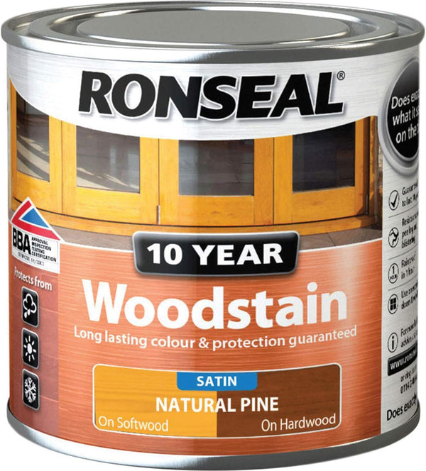 Ronseal 10 Year Woodstain Natural Pine 250ml
