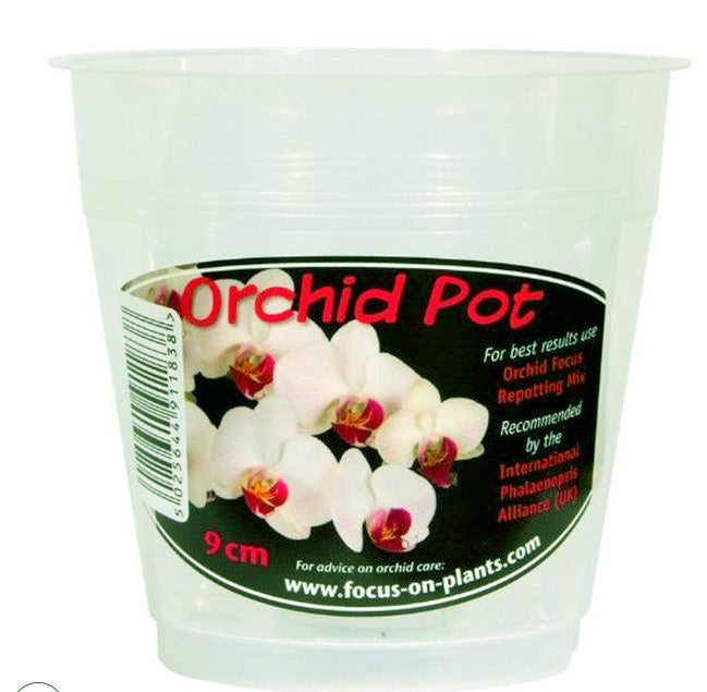 Growth Technology 9cm Clear Orchid Pot