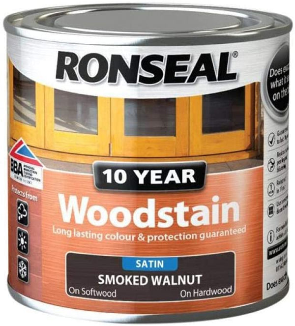 Ronseal 10 Year Woodstain Smoked Walnut 250ml